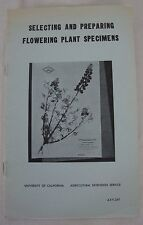 Vtg 1967 Selecting Preparing Flowering Plant Specimens University Cal Berkeley
