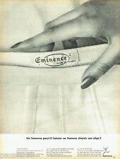 PUBLICITE ADVERTISING 116  1966  les sous vetements homme  Eminence