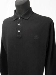 GIANFRANCO FERRE Long Sleeve Black Cotton Polo T- Shirt Size L / 54- 56