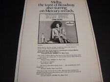 Melba Moore is the toast of Broadway original 1970 Promo Poster Ad mint cond