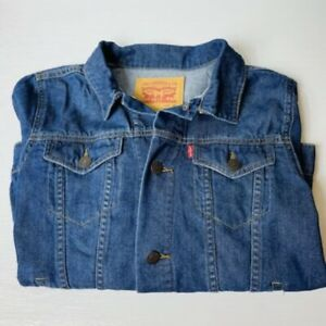 Levi's Boy's Denim Trucker Jacket Size Medium 10-12 Red Tab Kids Youth