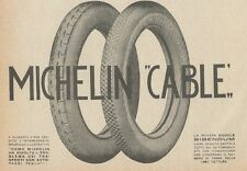 Z1785 Pneumatici MICHELIN Cable - Pubblicità d'epoca - 1923 Old advertising