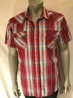 Levi's - Red/White/Blue Button Front Western Style Shirt - Snap Buttons -Size XL
