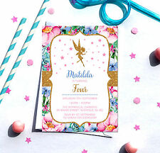 Fairy themed Birthday Party Invitations *Any Age* - pack of 10 with envelopes