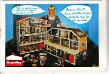 Publicité de Presse Maison de poupée Lunby of Sweden 1986 french ad