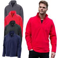 Result Mens Fleece Jacket 1/4 Zip Up Lightweight Outdoor Pocket-free Polar Work