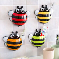Toothbrush/Toothpaste Holder Wall Mounted Suction Cup Animal Bee Style for Kids