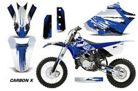 Dirt Bike Graphics Kit Decal Sticker Wrap For Yamaha YZ85 2015-2018 CARBONX BLUE