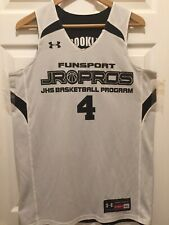 Under Armour Authentic  Men  Jersey Funsport Pro Jhs  Sixe 14, Black  And White.