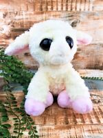 Aurora Baby Lamb Sheep Plush Stuffed Animal Toy Cream Pink Soft Easter Gift VTG