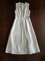 Judith & Charles White Midi Eyelet Sleeveless Dress Size 2 EUC!