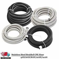 Nylon Amp Stainless Steel Braided Fuel Hose Oil Gas Line An4an6an8an10an12