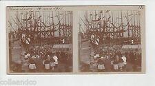 █ Vue Stéréoscopique / Stéréo : CRONENBOURG 1911 1ère pierre Eglise St-Florent █