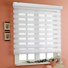 White Custom Zebra Roller Shades Day and Night Blind Curtain Sheer Window Blinds