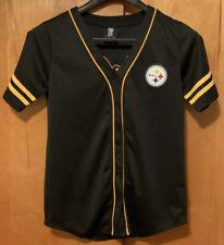 NFL Pittsburgh Steelers S Black Men's Baseball Style Jersey