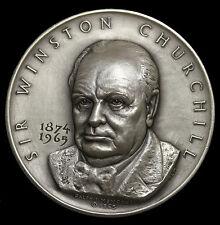 1965 Sir Winston Churchill Silver Medal Medallic Art Co MACO By Ralph Menconi