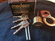 Medeco Rim Cylinder High Security Lock 4 Keys