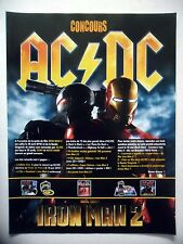 PUBLICITE-ADVERTISING :  AC/DC - Iron Man 2  2010 Concours