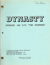LINDA EVANS - JOAN COLLINS - Original DYNASTY TV Script 'THE WARNING' 1987 C#22