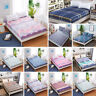 3Size Floral Printed Fitted Sheet Twin Full Queen King Cotton Bed Sheet Cover us