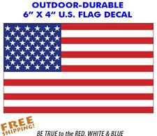 "6"" American Flag sticker decal 1 piece military patriotic USA VINYL"