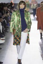 Dries Van Noten Fall 2017 Double Breasted Green Oversized Women's Coat