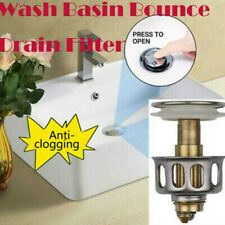 2x Universal Wash Basin Bounce Drain Filter Pop Up Bathroom Sink Drain Plugs