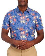Nautica Mens Blue Linen Cotton Tropical S/S Button-Front Shirt NWT $69 Size XL