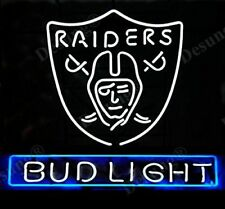 "New Bud Light Oakland Raiders Beer Bar Decor Neon Sign 24""x20"""