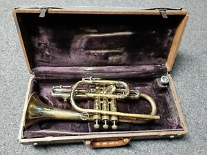 Vintage OLDS Ambassador cornet w/ original mouthpiece Serial #124576 for repair