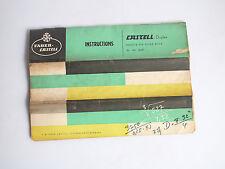 Faber Castell Duplex Precision Slide Rule 2/82 62/82 Original Instruction Manual
