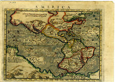 1604 Genuine Antique map early N & S America. Anian, Quivira. by Magini