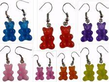 Ohrringe Ohrhänger Hänger Gummibärchen Süßigkeiten Bär Teddy rot / blau / rosa *