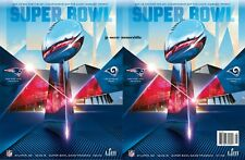 New England Patriots v Los Angeles Rams - 2019 Superbowl 53 - 2 Programme Set
