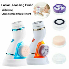 Electric Facial Cleansing Brush, 4 in 1 USB Rechargeable Face Brush Massager Set
