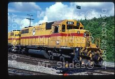 Original Slide BCH BC Hydro Yellow Paint SD38AC 381 New Westminister BC 1983