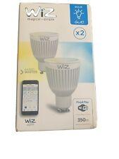 WiZ LED GU10 Smart Bulb Wifi Warm White & Dimmable, 2 Pack