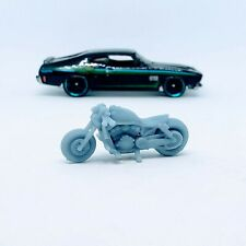Bobber Motorcycle 1:64 scale engine 3D printed resin for Hot Wheels/Matchbox