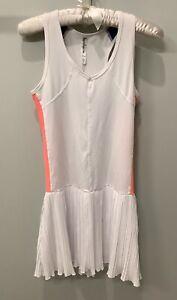 Kyodan Pleated Tennis Dress Lined ~ Sz XS ~ White Multi ~ VGUC
