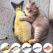 Cat Dog Stuffed Fish Toy Pet Plush Chewing Funny Interactive Play KickerToys