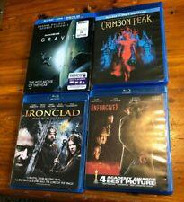 New listing Lot of 4 Region B Blu-ray Movies Ironclad Unforgiven Gravity Crimson Peak