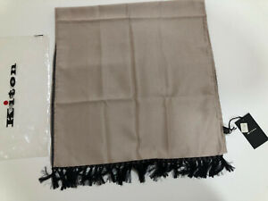 Elegant New With Tags Kiton Napoli Cashmere Silk Blend Scarf ~ Made in Italy