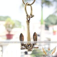 Brass Anchor Key Ring ~ Nautical Maritime Captain Boat ~ Ancher Keyring Keychain