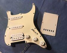 Fender HSS Loaded Pickguard USA Electronics (3 Ply / Aged White) Awesome!