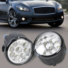 2Pcs 9 LED Round Daytime Driving Running Light DRL Fog Light for Nissan Infiniti