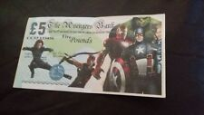The Avengers film collectable pretend toy  money £5 note... vgc