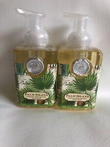 2 Michel Design Works Palm Island Foaming Shea Butter Hand Soaps 17.8 oz