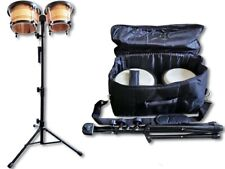 Bongo Set mit Tasche und Staender  Bongo Trommel Bongos Percussion Holz