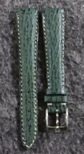 Rare Vintage Zenith Genuine Leather Green Shark Skin 15mm Watch Band with Buckle