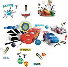 40 Stickers Adhésifs Muraux DISNEY CARS + Sonnette - Décoration Chambre Enfants